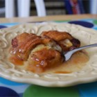 Mountain Apple Cobbler - Refrigerated crescent roll dough is rolled around apple slices, drizzled with butter and sugar, then given the secret ingredient -- a can of citrus-flavored soda.