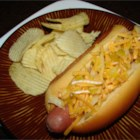 Hot Dogs With The Works - 'What screams summer more than grilled hot dogs?' asks Maria Regakis of Somerville, Massachusetts. She places hot dogs in buns before topping them with a zesty cheese sauce and grilling them in a double layer of foil.
