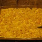 Easy No-Boil Macaroni and Cheese - There's no need to boil the noodles in this cheesy macaroni bake.  Use a blend of sharp and extra sharp Cheddar cheeses for great flavor.