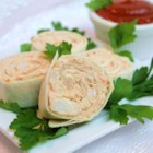 Crabmeat Roll-Ups - This is an easy and delicious spread, and yet another way to use tortillas for an appetizer. The mixture can also be used without the tortillas as a spread on crackers.