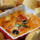 Hot Pizza Dip - Think of this as chafing-dish pizza without the dough! Five minutes in the microwave and you've got an appetizer on the table.