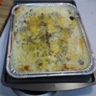 Beef Potato House Pie Casserole - This is a quick, easy, and inexpensive dish that my family loves. Alternating layers of mashed potatoes and ground beef with peppers.
