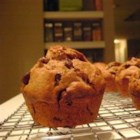 Chocolate Chip Banana Muffins - Chocolate chips and cocoa team well with banana in these lovely muffins that are made even more delicious with the addition of vanilla.