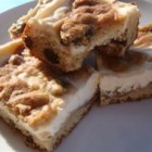 Chocolate Chip Cheesecake Brownies - Here's a scrumptious recipe that combines a blonde brownie and cheesecake!