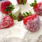 Angel Cake Surprise - An easy, quick no-bake dessert made with angel food cake, fruit, flavored gelatin, and whipped topping.