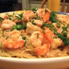 Shrimp Scampi V - A simple but elegant shrimp scampi recipe. Combine it with garlic bread and a salad for a delicious dinner.