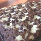 Marble Squares II - Soft and moist chocolate brownies made with cream cheese and sour cream.