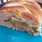 Chicken and Broccoli Braid - This clever recipe makes innovative use of prepared crescent roll dough. A cheesy chicken and chopped broccoli mixture fills the center.