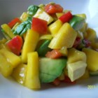 Avocado-Mango Salsa - This salsa is quick and easy to make, plus it's delicious! Once you taste it, you won't be able to stop eating it!