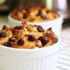 Chocolate Banana Bread Pudding - Bread, bananas and chocolate chips are featured in this bread pudding.