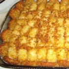Tater Tot Casserole III - This hearty favorite with ground beef, mushroom soup, French-style green beans and tater tots will please the whole family.