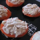 Carrot and Tuna Bites - This is a quick and easy snack that is both healthy and tasty. Simply prepare tuna the way you like it, cut a large carrot into thin slices, and use the carrot like you would use a cracker. Then... enjoy!