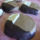 Chocolate Dipped Mocha Rounds - Chocolate cookies dipped in chocolate!?! m-m-m-m-m-m-m