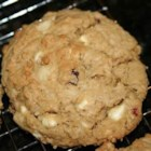 White Chocolate-Macadamia Nut Oatmeal Cookies - Oatmeal cookies are so tasty and this combination is a real treat! For crisper cookies, bake longer. If you leave the cookies on the cookie sheet for a few minutes before removing to cool to wire racks you will have a softer bottomed cookie.
