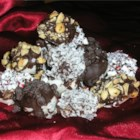 Pioneer Potato Candy - The main ingredients for this old fashioned candy are mashed potato and confectioners' sugar. Salted peanuts can be substituted for shredded coconut for a different taste.