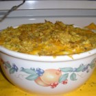 The Mighty Chicken Stuff - Chicken, noodles and tortilla chips are layered with sauce and cheese in a flavorful casserole. This is a dish I came up with due to boredom. It's fun, easy, and best of all the leftovers taste better than the original prepared dish!