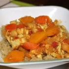 Moroccan Tagine - An exotic warm stew that is loved by all and is very easy to make. Also delicious as a vegetarian dish, without chicken. Serve over couscous.