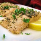 Baked Salmon II - Here's a simple way to make delicious salmon! The dish gets a flavor boost from basil, garlic, lemon juice, and parsley.