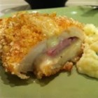 Chicken Cordon Bleu I - A delicious French classic, this chicken cordon bleu is made by rolling chicken with ham and Swiss cheese.