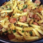 Photo of: Pasta with Kielbasa and Sauerkraut - Recipe of the Day