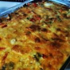Make Ahead Breakfast Casserole - An easy to make breakfast casserole that is made the night before and then popped in the oven for breakfast.