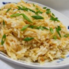 Sarah's Rice Pilaf - Rice and orzo pasta merge with the flavors of onion and garlic to create this versatile side dish.