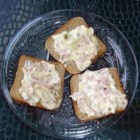 Anne's Hot Ham and Swiss Dip - My friend gave me this recipe for a hot, easy appetizer.  It is very simple to make for get togethers.  If you like hot ham and Swiss sandwiches you will love this!