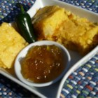 Hot and Sweet Cornbread - Fresh pineapple and diced jalapeno pepper spice up an ordinary box of corn bread mix and make it something special to go with your favorite chili or pot of beans.