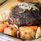 Awesome Red Wine Pot Roast - Basil, marjoram, thyme, and red wine flavor this tender pot roast.