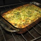 New Mom Broccoli Kugel - This dairy-free broccoli casserole has a few simple ingredients and is easy to put together. Pop it in the oven and you'll have a delicious side dish in about 90 minutes!
