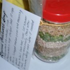 Layered Patchwork Soup Mix - Layer these ingredients in a wide mouth mason jar for a lovely house-warming gift.  The barley, split peas, rice, and lentils make beautiful layers, and the attached recipe card and seasoning packet of dried herbs make a complete and thoughtful present.