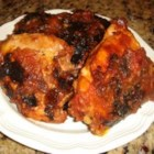 Ty's Barbequed Chicken - This is a fast, really tasty marinade that you can do at the last minute. Chopped onion, honey, ketchup, brown sugar, and soy sauce are mixed together and poured over chicken breasts. Chill for an hour and then grill. Makes four generous servings.