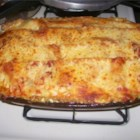 Convenient Vegetarian Lasagna - A meatless layered lasagna with carrots, broccoli, bell pepper and onion.