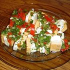 Marinated Cheese - This is a very colorful and tasty appetizer.  Because it has such a stunning presentation, it is a great appetizer for the holidays.  I take this to every function and gathering we attend - only because everyone else requests it!
