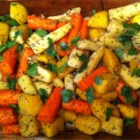 Roasted Winter Root Vegetables - This simple, time-saving recipe lets you prepare winter root vegetables in advance for Thanksgiving dinner. Parboil parsnips, rutabaga, and carrots, freeze or refrigerate them until needed, then toss them with vegetable oil, salt, pepper, and dried basil before roasting them to bring out their natural sweetness.