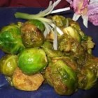 Charlie's Sweet Island Brussels Sprouts - Brussels sprouts are pan-fried in seasoned butter flavored with brown sugar, curry, and jerk seasoning in this Caribbean-inspired take on a favorite winter vegetable.