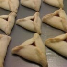 Hamantashen II - Filled cookie dough.