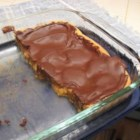 Peanut Butter Bars II - Bars made with miniature peanut butter cups topped with chocolate.