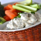 No-Guilt Zesty Ranch Dip - This flavorful dip is great for homemade jo-jo potatoes, raw vegetables, chips, and even baked potatoes!