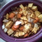 Slow Cooker Root Vegetable Tagine - This is a subtly spiced, super easy slow cooker meal. A good introduction to Moroccan food. Serve with couscous.