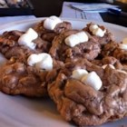 Chocolate Rocky Road Cookies - A chocolate cookie with the flavors of rocky road ice cream. These are great to eat with a big bowl of vanilla ice cream!