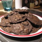 White Chocolate, Chocolate Cookies - The reverse Chocolate Chip cookie. Rich dark chocolate with white chocolate chips.