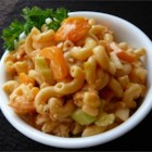 Tangy Catalina Pasta Salad - Catalina French dressing gives a delightful tangy sweetness to a luscious salad of tuna and shrimp tossed with pasta and onion, green pepper, celery and garlic salt.