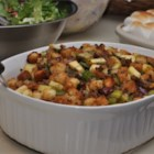 Cranberry, Sausage and Apple Stuffing - A mellow stuffing that pairs up perfectly with the Maple Roast Turkey and Gravy.