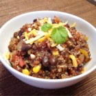 Quinoa and Black Bean Chili - Minced chipotle peppers add some zip to this vegetarian quinoa and black bean chili.