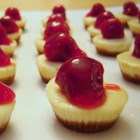 Mini Cheesecakes I - Easy and so good for holidays, weddings, or whatever the occasion!  It is also good with other flavors of fruit pie filling.