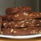 Double Chocolate Biscotti II - Biscotti made with egg substitute, cocoa and chunks of milk chocolate.