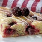Berry Good Coffee Cake - This yummy raspberry and almond coffee cake is one of my favorites.  The raspberries and glaze make every bite absolutely scrumptious.  A true family pleaser.