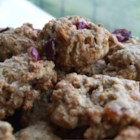 Apple-Cran-Cherry Oatmeal Cookies - My favorite recipe adapted many times from its original.  Always a big hit due to taste of the cookies, and because they are low fat.  The perfect on the go breakfast food.