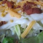 Miss Betty's 24 Hour Lettuce Salad - A dear friend shared her version of 24 hour salad with me.  Hope you enjoy it as much as we do!